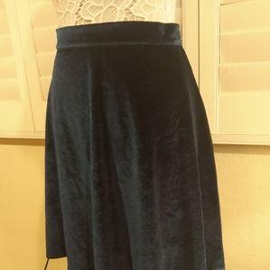 ModCloth Blue Velvet Skirt